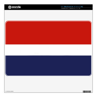 Red, White & Blue Decal For MacBook