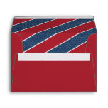 Red White Blue Denim Christmas Envelope