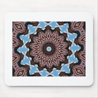 Red, white & blue diamond fractal design mouse pad