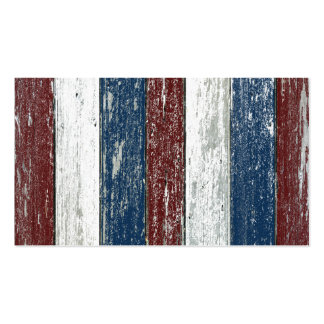 Red White Blue Driftwood Business Card