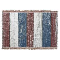 Red White Blue Driftwood Throw Blanket
