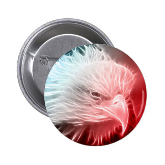 Red White & Blue Eagle 2 Inch Round Button
