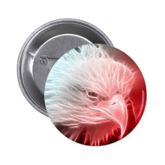Red White & Blue Eagle Button