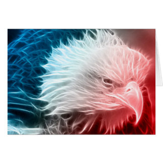 Red White & Blue Eagle Card