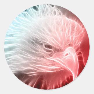 Red White & Blue Eagle Classic Round Sticker