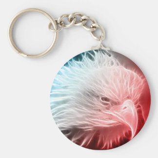 Red White & Blue Eagle Keychain