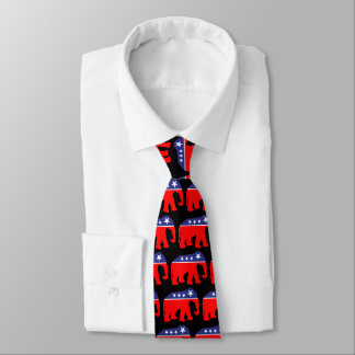 Red, White, & Blue Elephant Tie