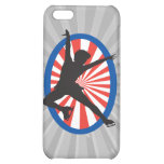 red white blue figure skater silhouette iPhone 5C case
