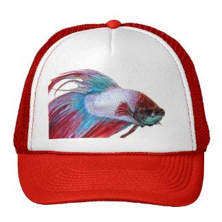 Red White & Blue (Fish on white background) Trucker Hat