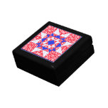Red White & Blue Floral and Dots Jewelry Box
