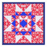 Red White & Blue Floral & Dots Quilt Announcements