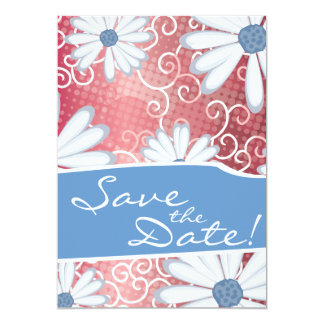 Red White Blue Floral Tribal Daisy Tattoo Pattern Card