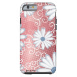 Red White Blue Floral Tribal Daisy Tattoo Pattern Tough iPhone 6 Case