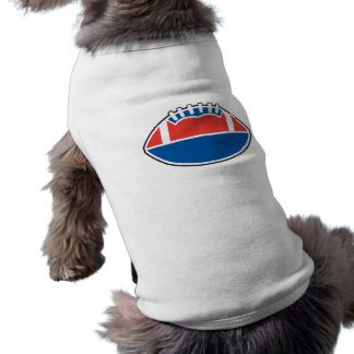 red white blue football icon graphic dog t shirt