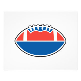 red white blue football icon graphic flyers