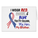 Red White Blue For My Brother Greeting Card