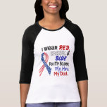 Red White Blue For My Dad Tshirt