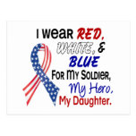 Red White Blue For My Daughter Postcard