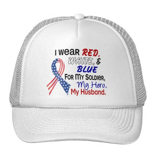 Red White Blue For My Husband Trucker Hat