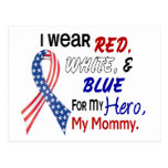 Red White Blue For My Mommy Postcard