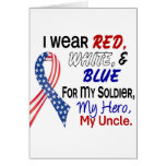 Red White Blue For My Uncle Card