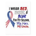 Red White Blue For My Uncle Post Cards