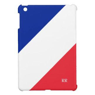 Red White Blue France Flag Diagonal iPad Mini Case