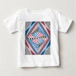 Red, White, Blue Geometric Abstract Zen Doodle Art T-shirt