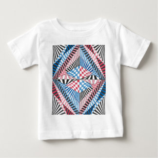 Red, White, Blue Geometric Abstract Zen Doodle Art T-shirt