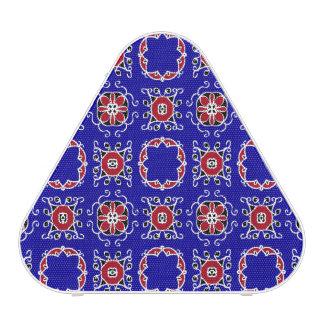 Red White Blue Geometric Pattern Personalizable Bluetooth Speaker