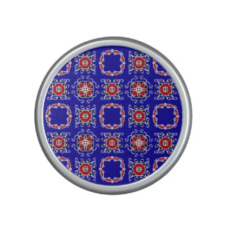 Red White Blue Geometric Pattern Personalizable Speaker