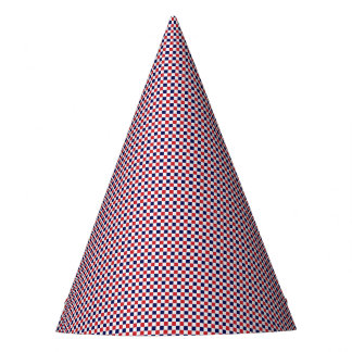 Red,White,Blue Gingham-PAPER PARTY HATS