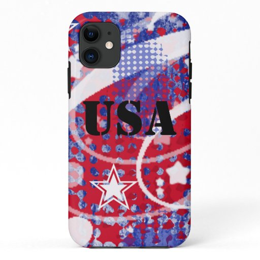 Red, White & Blue Glory Personalized iPhone 11 Case