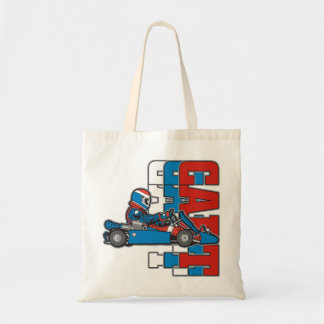 Red, White Blue Go Cart Tote Bag