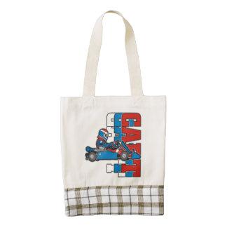 Red, White Blue Go Cart Zazzle HEART Tote Bag
