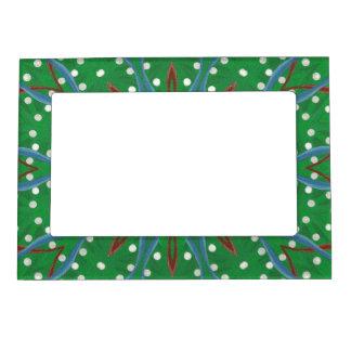 Red White Blue Green Christmas Magnetic Frame