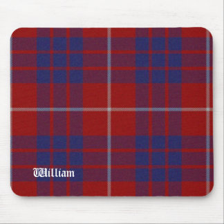 Red, White, & Blue Hamilton Tartan Plaid Mouse Pad