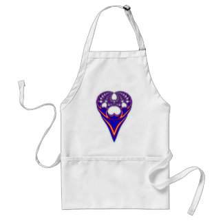 Red White & Blue Heart Fractal Apron