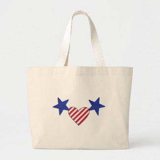 Red White Blue Heart Stars and Stripes Bags