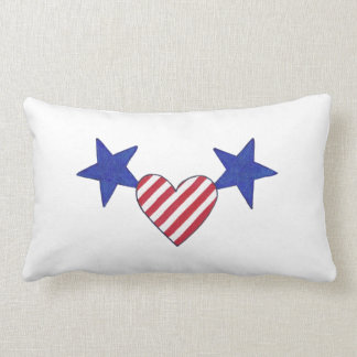 Red White Blue Heart Stars and Stripes Pillows