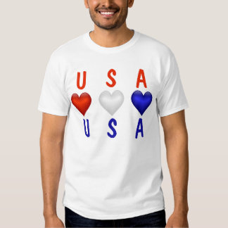 Red White & Blue hearts T-shirt