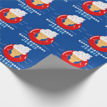 Red White Blue Ice Cream Pool Party Kids Summer Wrapping Paper