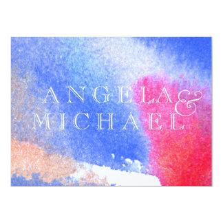 Red White & Blue 6.5x8.75 Paper Invitation Card