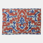 Red, white, blue Iznik Turkish Tile Ottoman Empire Towels