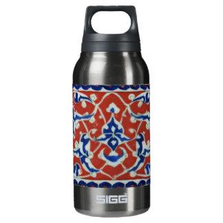 Red, white, blue Iznik Turkish Tile Ottoman Empire Thermos Water Bottle