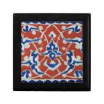 Red, white, blue Iznik Turkish Tile Ottoman Era Keepsake Boxes