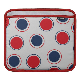 Red White & Blue July 4th Polka Dots Americana Sleeve For iPads
