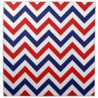 Red, White, Blue Large Chevron ZigZag Pattern Cloth Napkin