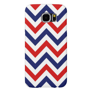 Red, White, Blue Large Chevron ZigZag Pattern Samsung Galaxy S6 Case