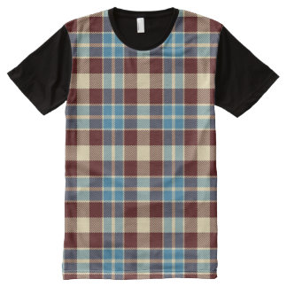 Red, White & Blue Logger Flannel Plaid All-Over Print Shirt